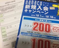 nanaco 発行手数料無料